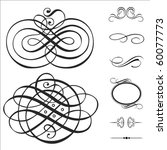 vector swirl ornament set.... | Shutterstock .eps vector #60077773
