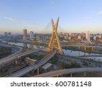 Small photo of Octavio Frias de Oliveira Bridge, constructed in 2008, landmark of Sao Paulo, Brazil