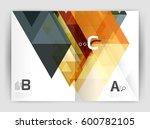 vector modern geometric annual... | Shutterstock .eps vector #600782105