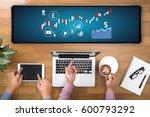financial forex stock market ... | Shutterstock . vector #600793292