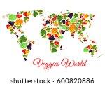 vegetables world map of vector...   Shutterstock .eps vector #600820886