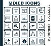 set of 25 universal editable... | Shutterstock .eps vector #600822182