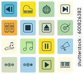 set of 16 multimedia icons....