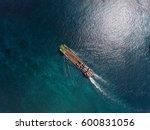 aerial shot of the cargo ship... | Shutterstock . vector #600831056
