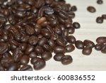 coffee on grunge wooden... | Shutterstock . vector #600836552