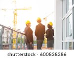 team of engineers at the... | Shutterstock . vector #600838286