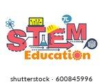 illustration of stem education... | Shutterstock .eps vector #600845996
