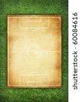 soccer field pattern on vintage ... | Shutterstock . vector #60084616