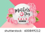 mothers day sale background... | Shutterstock .eps vector #600849212