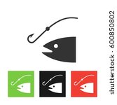 fishing icon illustration.... | Shutterstock . vector #600850802
