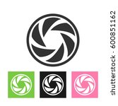 round logo template set.... | Shutterstock . vector #600851162