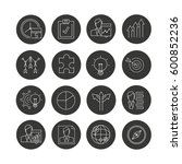 business management icon set in ... | Shutterstock .eps vector #600852236