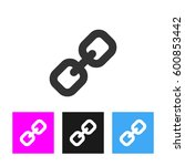 chain icon in trendy flat style ...