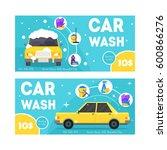 car wash service banner card... | Shutterstock .eps vector #600866276