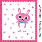 valentine bunny doodle | Shutterstock .eps vector #60086899