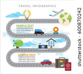 colorful travel info graphic... | Shutterstock .eps vector #600870242