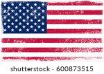grunge american flag.vector... | Shutterstock .eps vector #600873515
