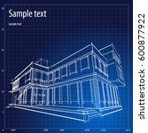 architecture grid blueprint... | Shutterstock .eps vector #600877922