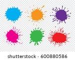 vector paint splatters.paint... | Shutterstock .eps vector #600880586