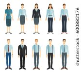 young businessman and... | Shutterstock .eps vector #600882176