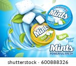 mint flavor gum contained in... | Shutterstock . vector #600888326