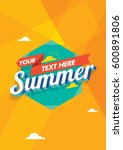 summer unit | Shutterstock . vector #600891806