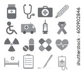 medical icon set on white... | Shutterstock .eps vector #600902846