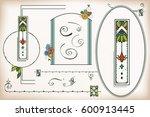 vintage frame and element... | Shutterstock .eps vector #600913445