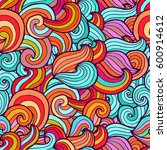 vector abstract hand drawn... | Shutterstock .eps vector #600914612