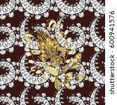 damask seamless pattern for...   Shutterstock .eps vector #600941576