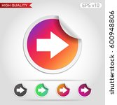 colored icon or button of right ... | Shutterstock .eps vector #600948806
