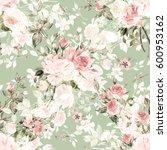 seamless watercolor pattern... | Shutterstock . vector #600953162