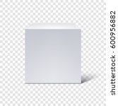 white cube isolated on... | Shutterstock .eps vector #600956882