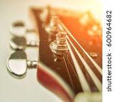 rock guitar. close up view part ...   Shutterstock . vector #600964682