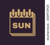 sunday icon. sun and calendar ...
