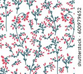 barberry seamless pattern on... | Shutterstock . vector #600979652