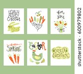 wonderful handwritten spring  ... | Shutterstock .eps vector #600979802