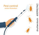 pest control banner concept.... | Shutterstock .eps vector #600981962