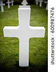 Small photo of White crosses in American Cemetery, Coleville-sur-Mer, Omaha Beach, Normandy, France.