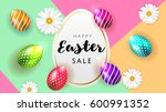 happy easter background... | Shutterstock .eps vector #600991352