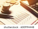 summary report and financial... | Shutterstock . vector #600994448