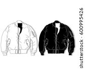 pilot jacket. bomber. fashion... | Shutterstock .eps vector #600995426