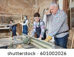woman as apprentice during... | Shutterstock . vector #601002026