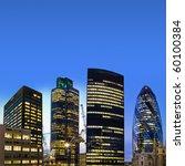 evening time shot of london's... | Shutterstock . vector #60100384