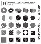 set 25 universal geometric... | Shutterstock .eps vector #601004585