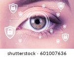biometric security retina...   Shutterstock . vector #601007636