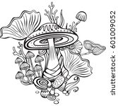 coloring book page for adult... | Shutterstock . vector #601009052