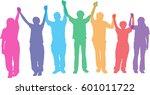silhouette vector of business... | Shutterstock .eps vector #601011722