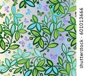 spring seamless pattern with... | Shutterstock .eps vector #601013666