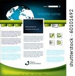 ecology website template  vector | Shutterstock .eps vector #60101692